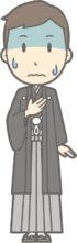 あがり症の袴の男性